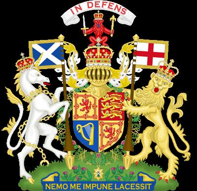 Герб Великобритании (используется в Шотландии)
